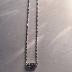 Kendra Scott Drusy Silver Necklace